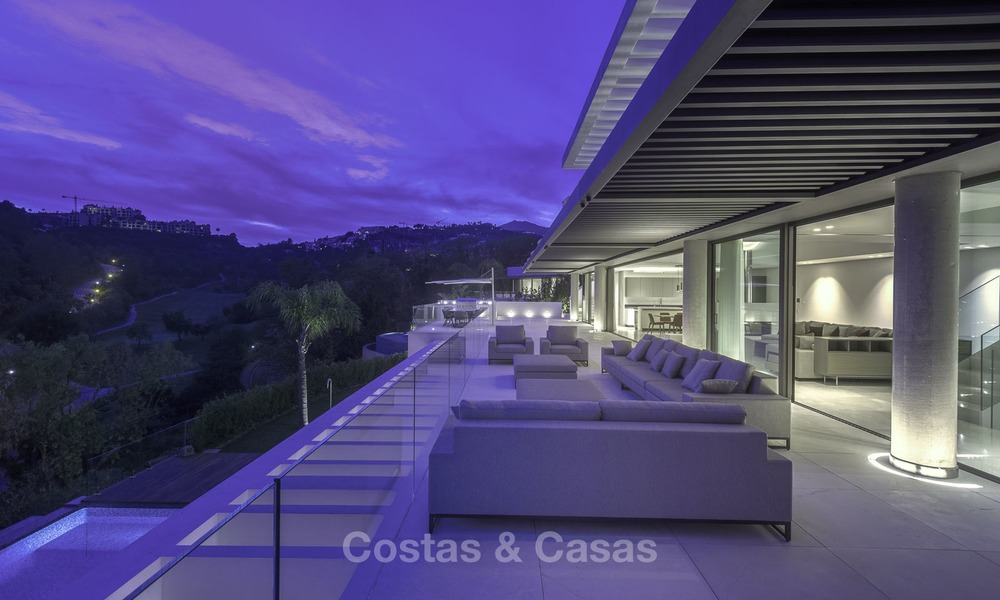 Brand new modern luxury villa with golf and sea views for sale, ready to move into, in a posh golf resort in Nueva Andalucia, Marbella - Benahavis 13302