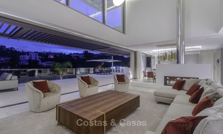 Brand new modern luxury villa with golf and sea views for sale, ready to move into, in a posh golf resort in Nueva Andalucia, Marbella - Benahavis 13304