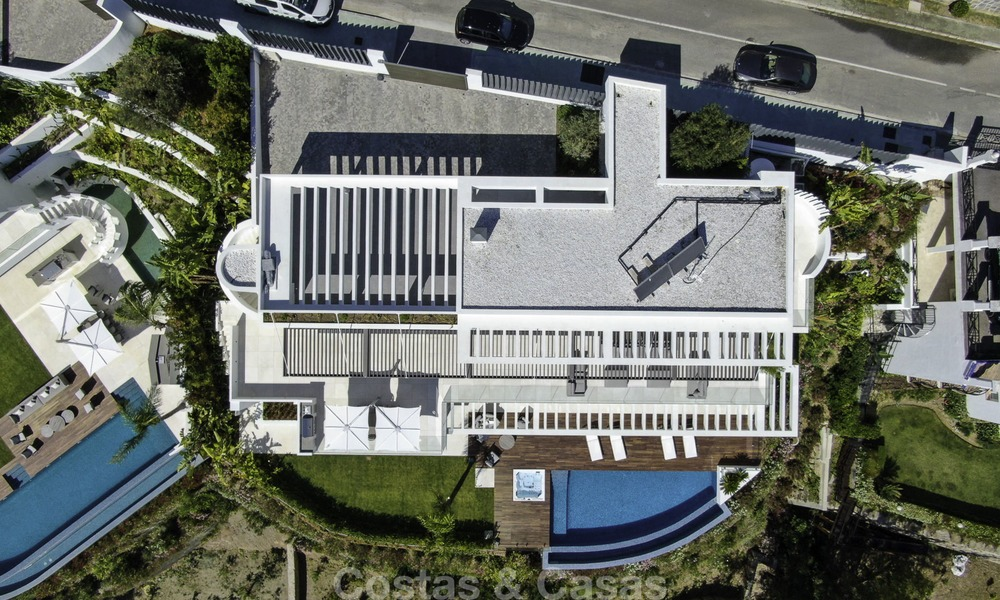 Brand new modern luxury villa with golf and sea views for sale, ready to move into, in a posh golf resort in Nueva Andalucia, Marbella - Benahavis 13305
