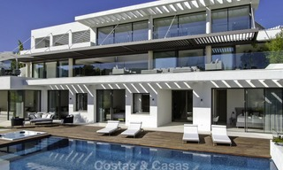 Brand new modern luxury villa with golf and sea views for sale, ready to move into, in a posh golf resort in Nueva Andalucia, Marbella - Benahavis 13306