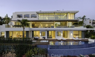 Brand new modern luxury villa with golf and sea views for sale, ready to move into, in a posh golf resort in Nueva Andalucia, Marbella - Benahavis 13309