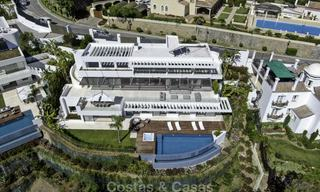 Brand new modern luxury villa with golf and sea views for sale, ready to move into, in a posh golf resort in Nueva Andalucia, Marbella - Benahavis 13310