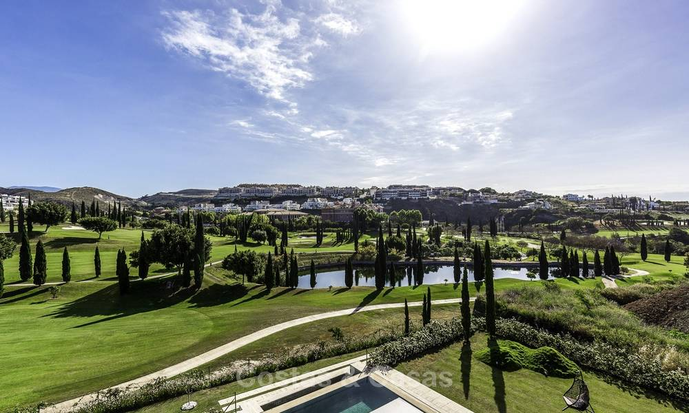 Stunning new modern contemporary luxury villa for sale, frontline golf in an exclusive resort, Benahavis, Marbella 13403