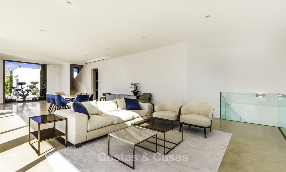 Stunning new modern contemporary luxury villa for sale, frontline golf in an exclusive resort, Benahavis, Marbella 13405