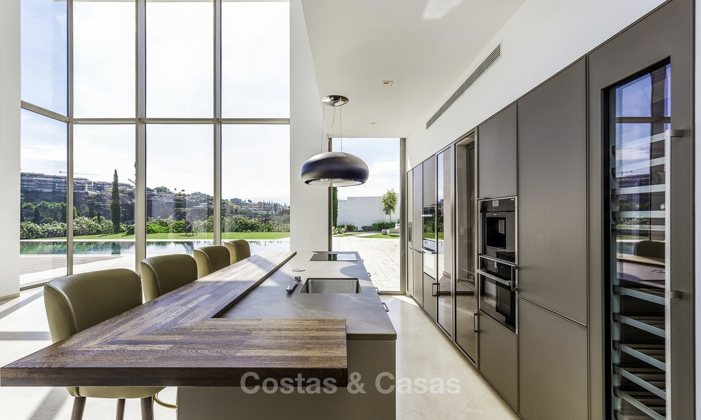 Stunning new modern contemporary luxury villa for sale, frontline golf in an exclusive resort, Benahavis, Marbella 13410