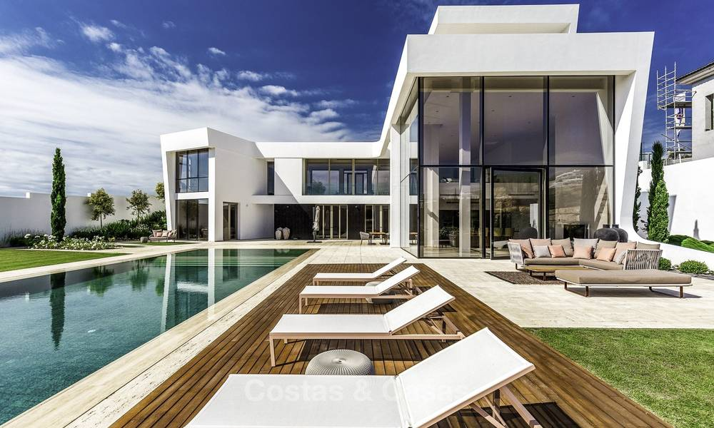 Stunning new modern contemporary luxury villa for sale, frontline golf in an exclusive resort, Benahavis, Marbella 13413