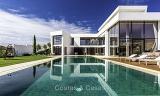 Stunning new modern contemporary luxury villa for sale, frontline golf in an exclusive resort, Benahavis, Marbella 13414