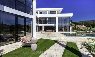 Stunning new modern contemporary luxury villa for sale, frontline golf in an exclusive resort, Benahavis, Marbella 13416