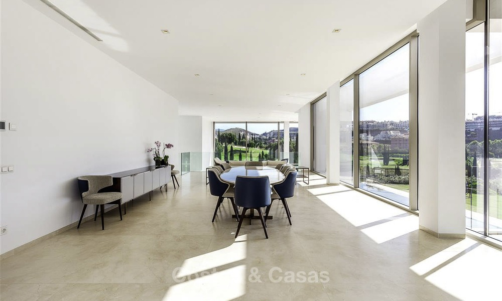 Stunning new modern contemporary luxury villa for sale, frontline golf in an exclusive resort, Benahavis, Marbella 13425