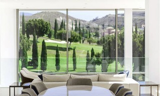 Stunning new modern contemporary luxury villa for sale, frontline golf in an exclusive resort, Benahavis, Marbella 13437