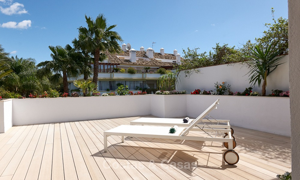 Luxury penthouse apartment for sale on the Golden Mile between Marbella centre and Puerto Banus 13560