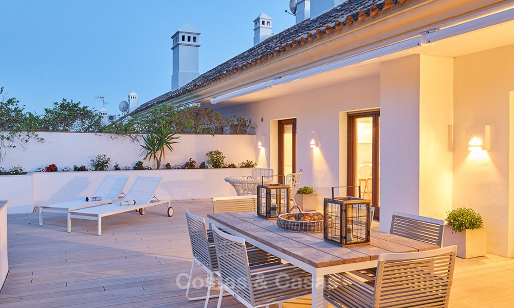 Luxury penthouse apartment for sale on the Golden Mile between Marbella centre and Puerto Banus 13576
