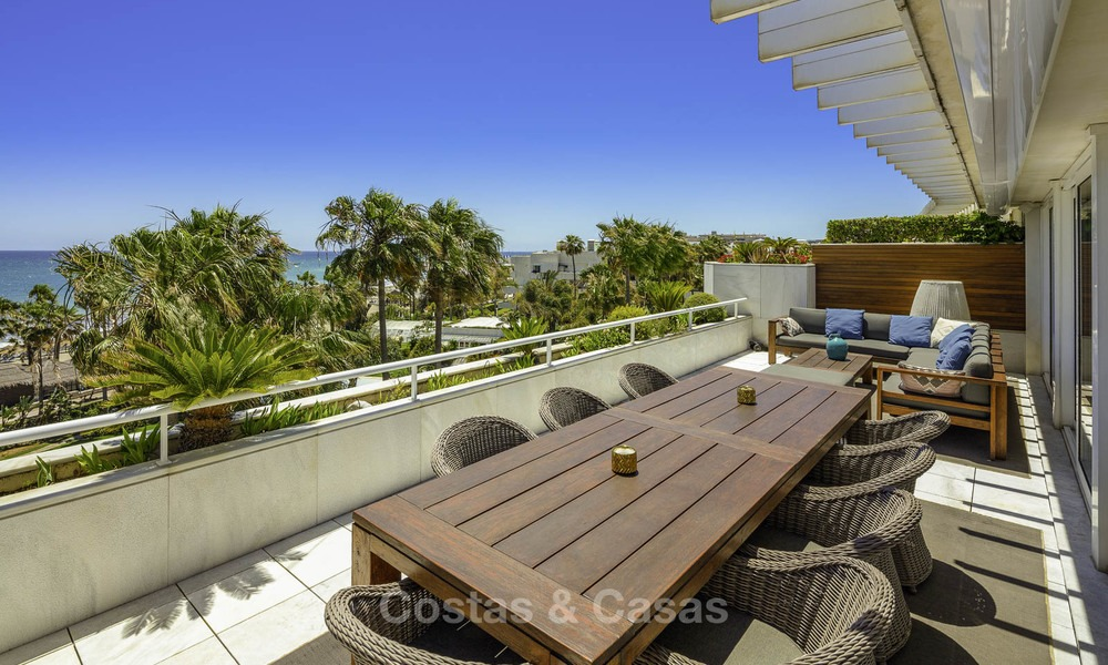 Very luxurious 4 bed penthouse apartment for sale in an exclusive beachfront complex, Puerto Banus, Marbella 13657