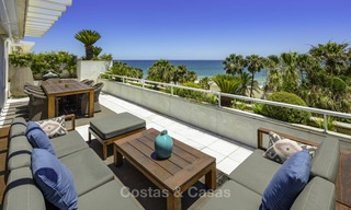 Very luxurious 4 bed penthouse apartment for sale in an exclusive beachfront complex, Puerto Banus, Marbella 13659