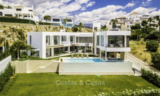 New modern minimalist villa with panoramic sea and golf views for sale, ready to move into, Benahavis, Marbella 13649
