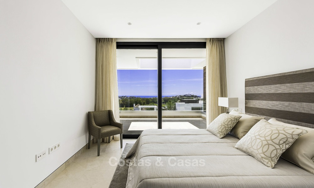 Brand new contemporary designer villa with stunning sea and golf views for sale, ready to move into, Benahavis - Marbella 13677