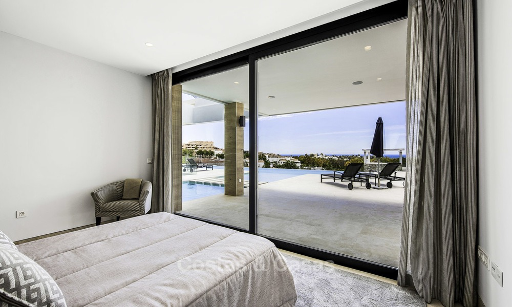 Brand new contemporary designer villa with stunning sea and golf views for sale, ready to move into, Benahavis - Marbella 13682