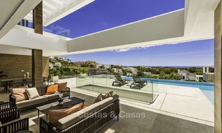 Brand new contemporary designer villa with stunning sea and golf views for sale, ready to move into, Benahavis - Marbella 13684