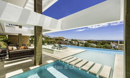 Brand new contemporary designer villa with stunning sea and golf views for sale, ready to move into, Benahavis - Marbella 13685