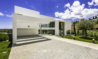 Brand new contemporary designer villa with stunning sea and golf views for sale, ready to move into, Benahavis - Marbella 13687