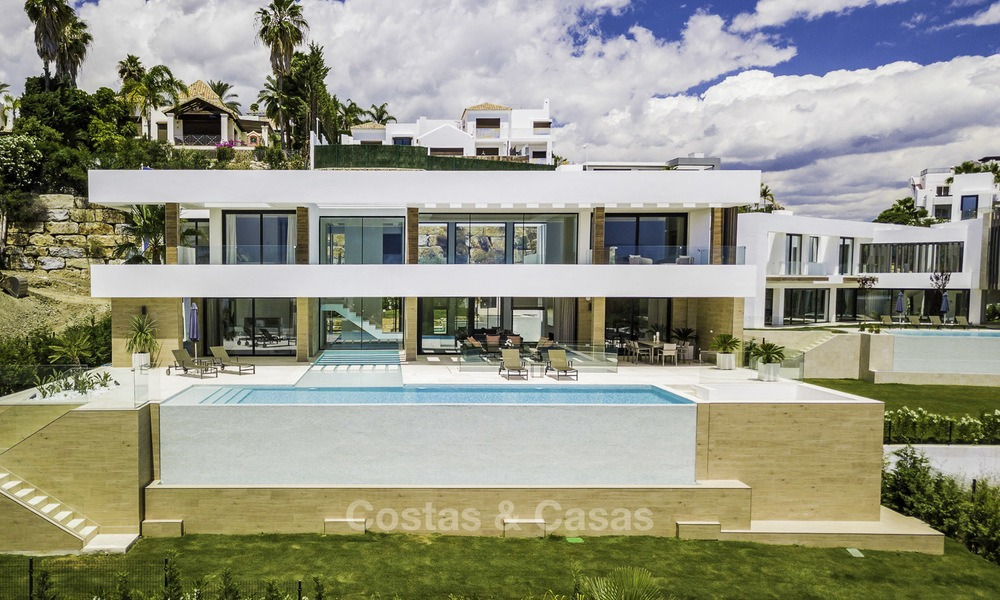 Brand new contemporary designer villa with stunning sea and golf views for sale, ready to move into, Benahavis - Marbella 13691