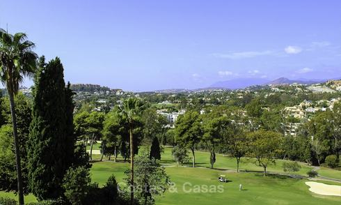 Nice plot with approved building license for sale, frontline golf, Nueva Andalucia, Marbella 13830