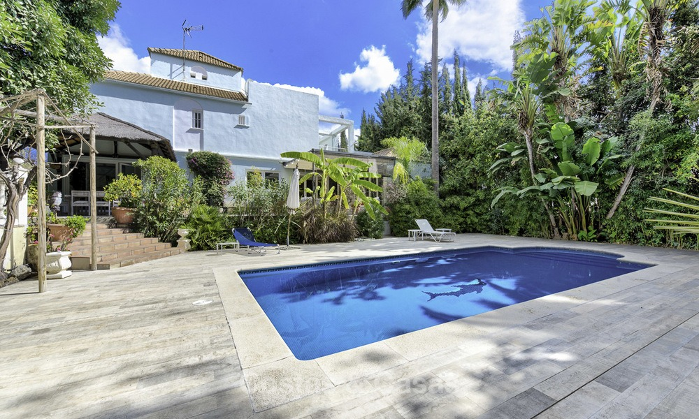 Charming fully renovated villa for sale in the heart of the Golf Valley, Nueva Andalucia, Marbella 13845