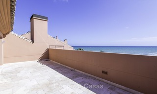 Exceptional luxury beachfront penthouse apartment for sale in a prestigious complex, Puerto Banus, Marbella 13889