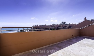 Exceptional luxury beachfront penthouse apartment for sale in a prestigious complex, Puerto Banus, Marbella 13890