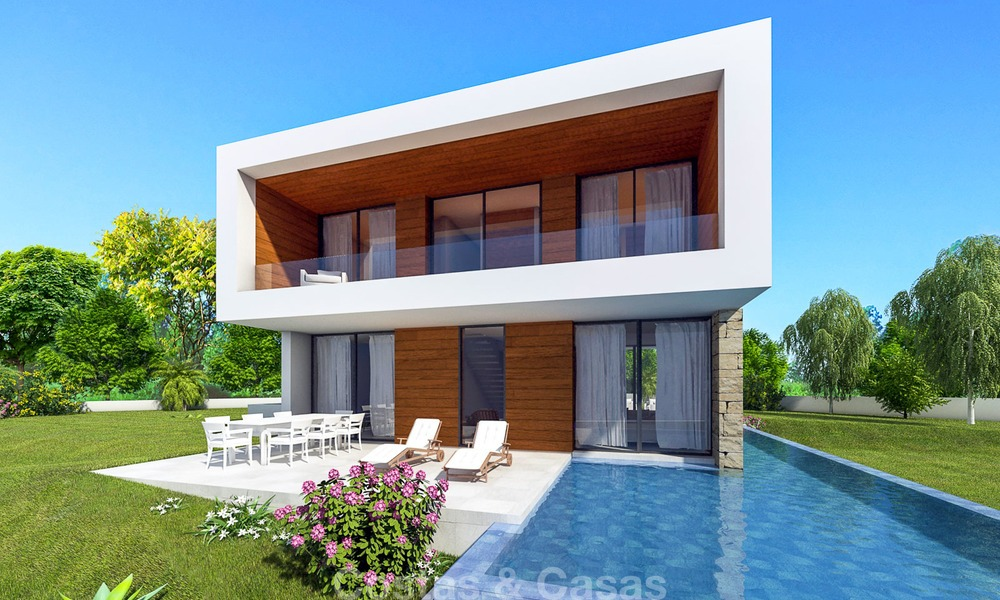 New eco-conscious modern luxury villa with open seaviews for sale, walking distance to the beach, Estepona 14100