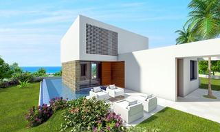 New eco-conscious modern luxury villa with open seaviews for sale, walking distance to the beach, Estepona 14101