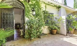 Charming renovated Mediterranean style villa with sea views on a large plot for sale in Benahavis - Marbella 14127