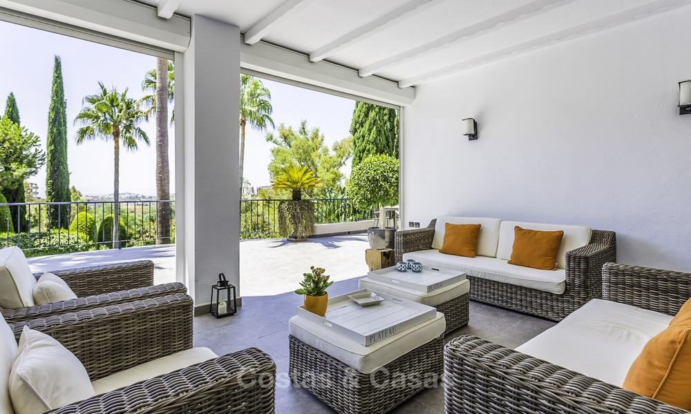 Charming renovated Mediterranean style villa with sea views on a large plot for sale in Benahavis - Marbella 14137