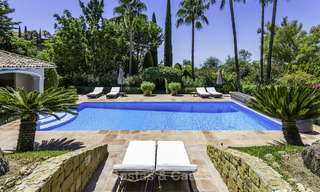 Charming renovated Mediterranean style villa with sea views on a large plot for sale in Benahavis - Marbella 14153