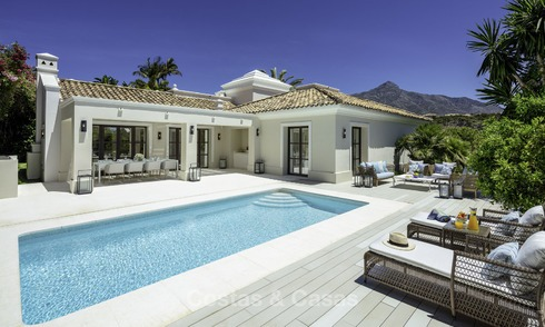 Elegant and luxurious Mediterranean style villa for sale, completely renovated, in Nueva Andalucia's Golf Valley, Marbella 14230