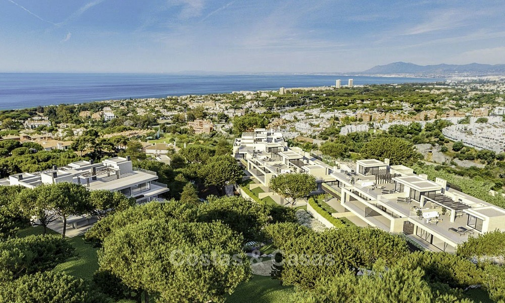 New modern luxury apartments and penthouses for sale with sea views in Cabopino, East Marbella 14303