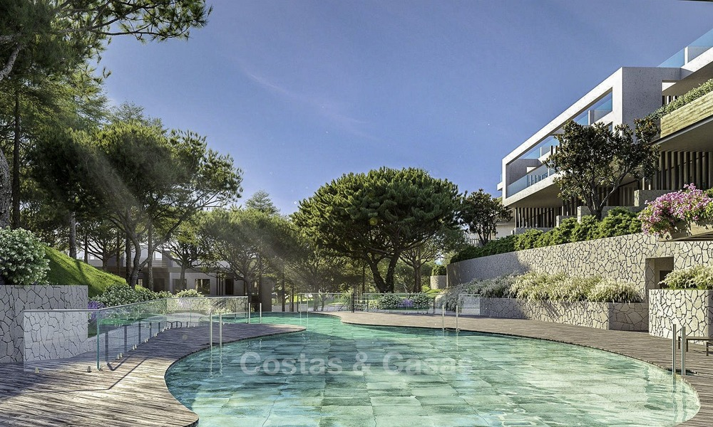 New modern luxury apartments and penthouses for sale with sea views in Cabopino, East Marbella 14306