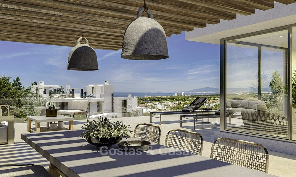 New modern luxury apartments and penthouses for sale with sea views in Cabopino, East Marbella 14310