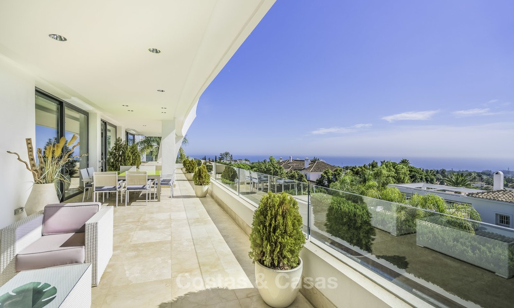 Awesome, super deluxe 5 bed penthouse apartment with panoramic sea views for sale in Sierra Blanca on the Golden Mile, Marbella 14276