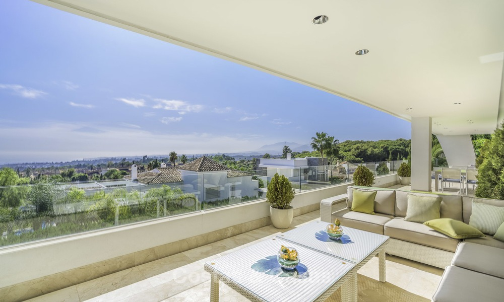 Awesome, super deluxe 5 bed penthouse apartment with panoramic sea views for sale in Sierra Blanca on the Golden Mile, Marbella 14277