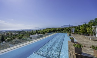 Awesome, super deluxe 5 bed penthouse apartment with panoramic sea views for sale in Sierra Blanca on the Golden Mile, Marbella 14287