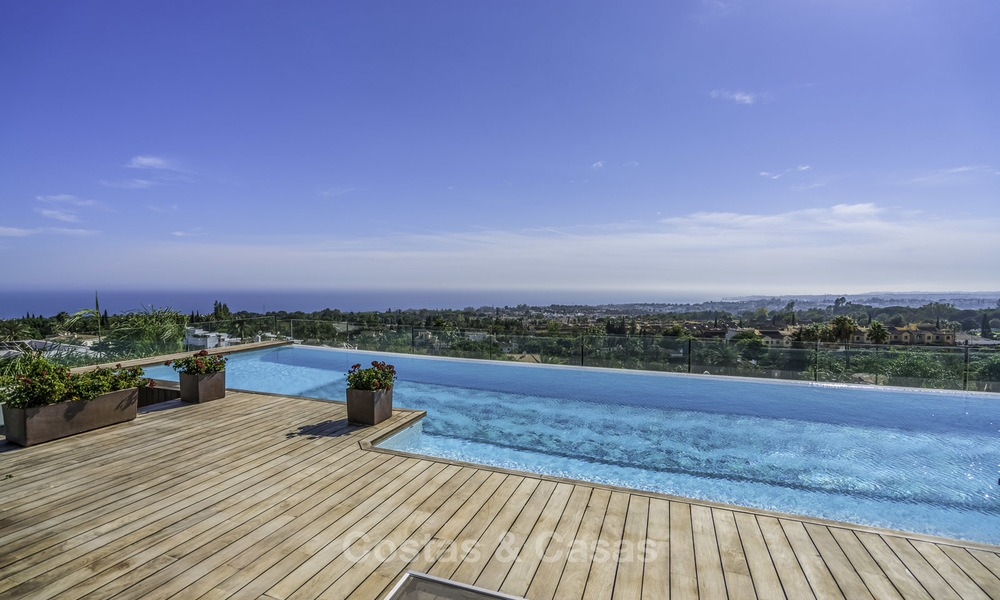 Awesome, super deluxe 5 bed penthouse apartment with panoramic sea views for sale in Sierra Blanca on the Golden Mile, Marbella 14289