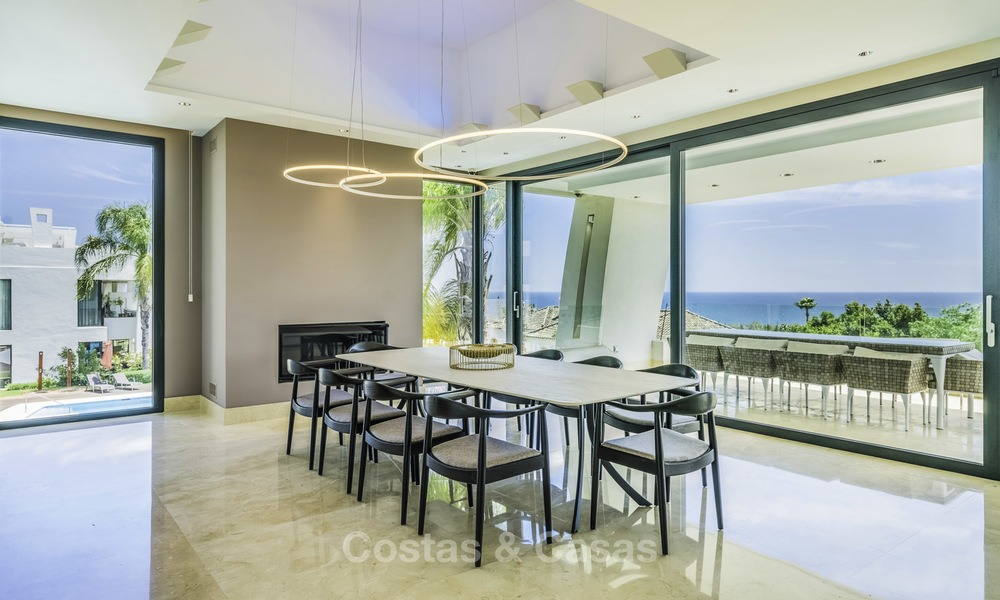 Awesome, super deluxe 5 bed penthouse apartment with panoramic sea views for sale in Sierra Blanca on the Golden Mile, Marbella 14296