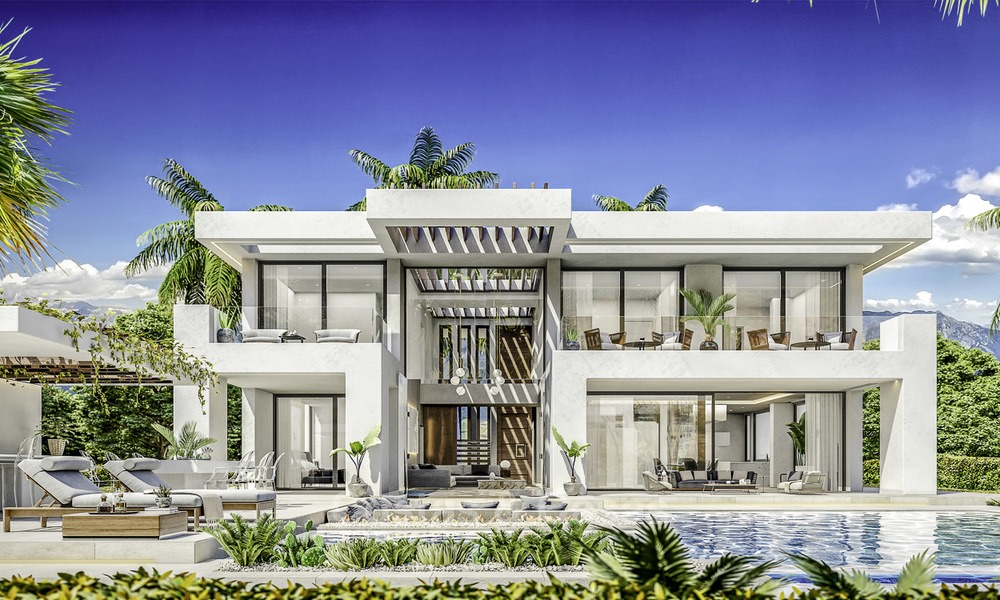 Brand new modern contemporary luxury villas for sale, frontline golf on the New Golden Mile, between Marbella and Estepona 14313
