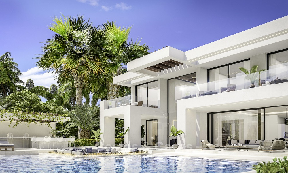 Brand new modern contemporary luxury villas for sale, frontline golf on the New Golden Mile, between Marbella and Estepona 14314