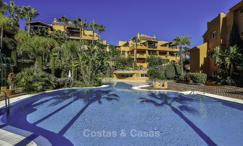 Attractive spacious garden apartment for sale in a prestigious Sierra Blanca complex on the Golden Mile in Marbella 14407