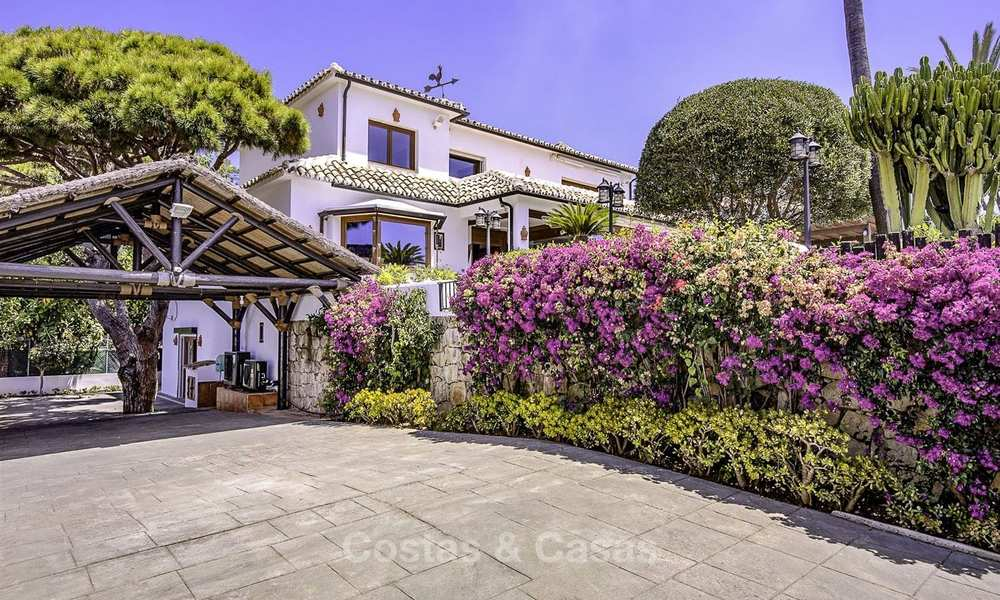 Charming, very spacious Mediterranean style villa for sale, walking distance to the beach, Marbella East 14492