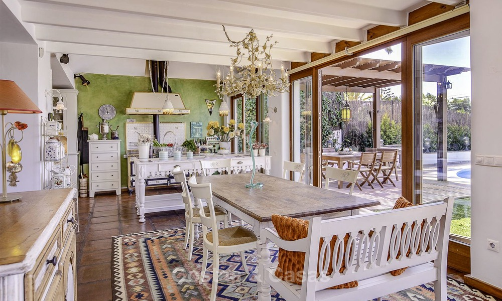 Charming, very spacious Mediterranean style villa for sale, walking distance to the beach, Marbella East 14495