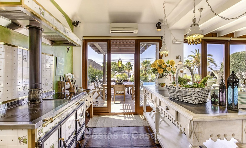 Charming, very spacious Mediterranean style villa for sale, walking distance to the beach, Marbella East 14498