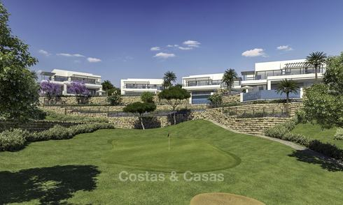 New modern luxury villas with amazing sea views for sale, frontline golf in East Marbella 14500